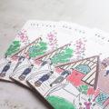 明治学院の白金チャペル×ブーゲンビリアで夏らしいプロフィールブック